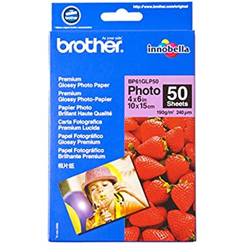 Brother TN-3230 - Papel brillante para imprimir fotos, 50 hojas de 10 x 15