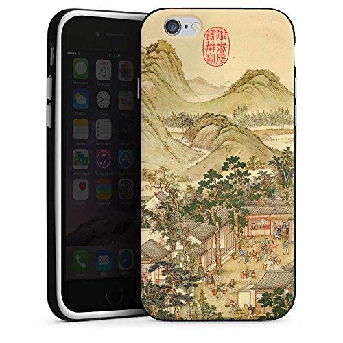 Apple iPhone 5s Housse Étui Protection Coque Tableau Chine Art Housse en silicone noir / blanc