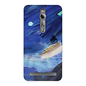 Delighted Blue Paint Work Print Back Case Cover for Asus Zenfone 2