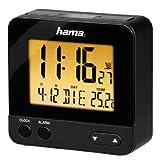 Hama Funk Wecker RC540 (sensorgesteuerte Nachtlichtfunktion, Schlummerfunktion, Temperatur- und Datumsanzeige) schwarz