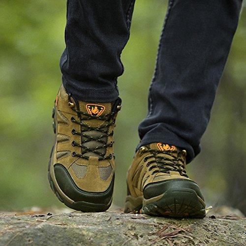 Ben Sports Scarpe da escursionismo Calzature da escursionismo Stivali da escursionismo da donna Uomo Marrone