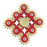 9 Gears Linkage Metall Fidget Hand Spinner Fast Rotation Luxus