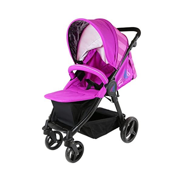 Sail Stroller - Plum Includes Bumper Bar Rain Cover Bootcover Sail Seamless Ride, High Built Quality, Amazing Features Media Viewing Tablet Pocket + One Hand Fold Away Extendable Hood, Provides Additional Shade And Privacy 5