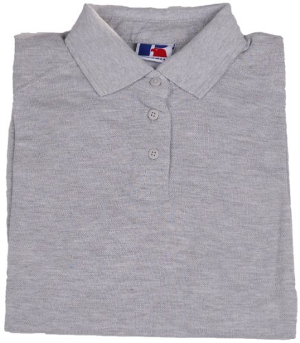 Russell Damen Poloshirt , Model: diverse, --- NEU ---, UPE: 24,90 Euro Hellgrau