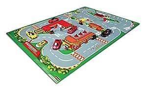 Burago - 31235 - Radio Commande - Véhicule Miniature - Tapis Ferrari Race and play - Echelle 1:43