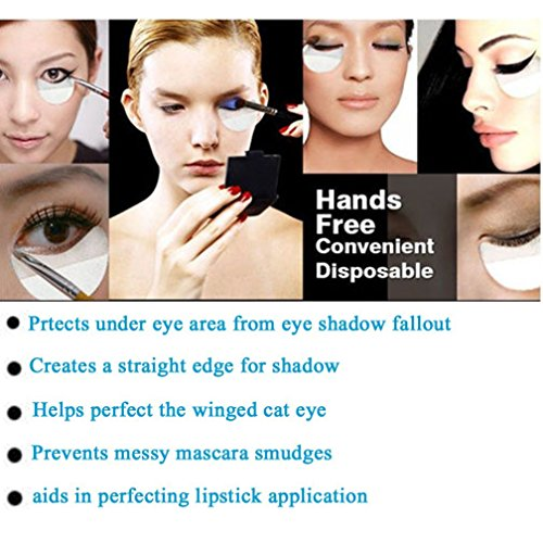 Eyeshadow Shields, 20 Pcs Eye Pads for Eyelash Extensions Perming Tint Non-Woven Cloth Eye Protection Professional Eye Eyelash Makeup Bases Application Protector Shield (L 8.4*5cm)
