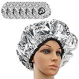 Segbeauty condizionata Cap, 6pcs Silver Salon doccia cappuccio capelli terapia wrap lavabile capelli styling doccia cap uso domestico con il condizionamento parrucchiere tintura per capelli