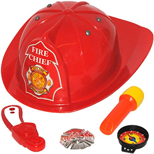 teilig Helm Feuerlöscher Axt Feuerwehr Kinder Feuerwehrmann Accessoires Set 4