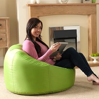 Bean Bag Bazaar Panelled XL Chair Indoor Outdoor LIME GREEN