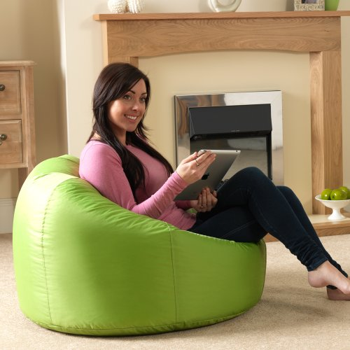 bean-bag-bazaar-panelled-xl-bean-bag-chair-indoor-outdoor-lime-green-extra-large-waterproof-bean-bag