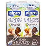 Alpro Central Lechera Asturiana Bebida de Almendra Chocolate - Paquete de 8 x 1000 ml - Total: 8000 ml