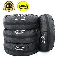 ELR Fundas para Neumáticos de Ruedas Recambio Cubierta Caso Protector Bolsas de Almacenaje Neumáticos Pequeños Spare Tire Tote Cover 66 cm de Diámetro