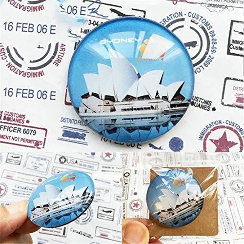(Sydney australien kühlschrank kühlschrankmagnet Stadt Welt kristall Glas handgemachte Tourist Reise Souvenir Sammlung Starke Wort Brief Aufkleber Kinder)