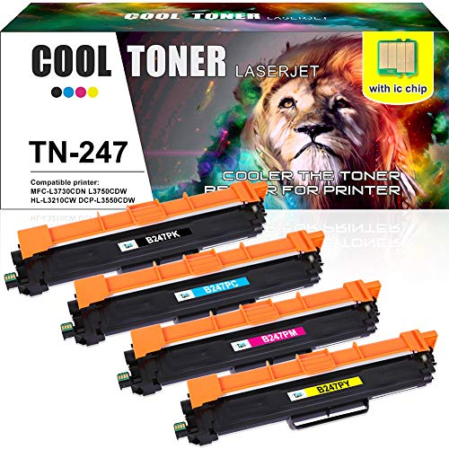 Cool Toner Compatible TN247 TN-247 TN-243 TN243 Cartouches de Toner pour Brother DCP-L3550CDW MFC-L3750CDW MFC-L3770CDW HL-L3210CW HL-L3270CDW HL-L3230CDW MFC-L3710CW MFC-L3730CDN DCP-L3510CDW