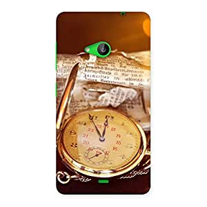 Neo World Vintage Clock Back Case Cover for Lumia 535