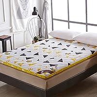 HM&DX Grueso Espuma Futón Colchón Sofa Cama,Flores Acolchado Antiescaras Dormitorio Tatami Estera del Piso