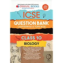 Oswaal ICSE Question Bank Class 10 Biology Chapterwise & Topicwise (For March 2019 Exam)