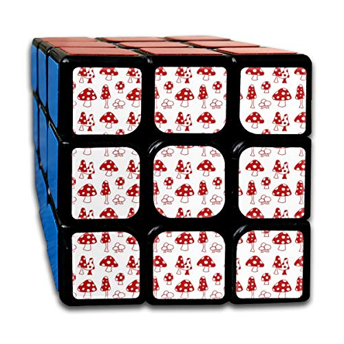 sexy world Toadstools Red Boys 3x3 Speed Cube Stickerless Magic Cube 3x3x3 Puzzles Toys 2.16 inch (55mm) Creek-snap