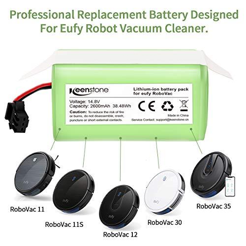 morpilot Batería de Reemplazo para Conga Excellence 990,  14.8V 2600mah Li- ion Recargable,  Compatible con Conga Excellence 990 DEEBOT N79S N79 Eufy RoboVac 11 11S RoboVac 30 RoboVac 12 RoboVac 35C