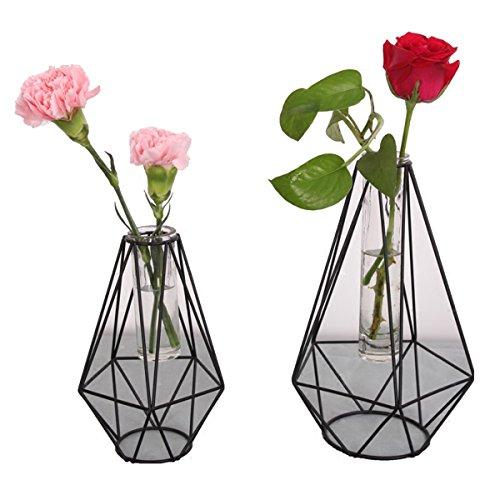 Moderne Knospe Glas Blumenvase, Metall Blumentopf Halter Rack für Hochzeit, Kunst Dekor, Haus dekorative, Garten, Indoor (groß)