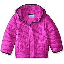 Columbia Powder Lite Puffer–Anorak para niña, color Deep Blush, tamaño L