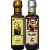 Paquete de regalo de vinagre balsámico - 8 años de edad en madera 90 ml + Aceite de oliva virgen extra Primero.