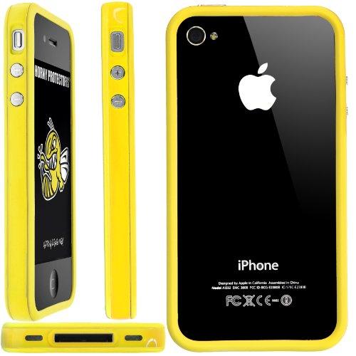 Horny Protectors Bumper avec boutons en métal pour Apple iPhone 4(non 4S) jaune