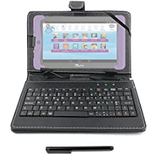 "DURAGADGET Funda / Teclado ESPAÑOL Negro 7 "" Para Cefatronic - Tablet Clan Motion Pro - Conexión MicroUSB + Lápiz Stylus"