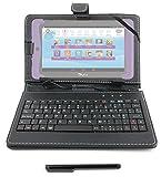 DURAGADGET Funda / Teclado ESPAÑOL Negro 7 ' Para Cefatronic - Tablet Clan Motion Pro - Conexión...