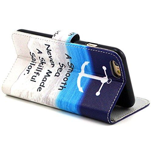 TIODIO® 4 en 1 Skin Coque en PU Cuir Portefeuille Housse de Protection à rabat Case Etui Pour Apple iphone 6S/iPhone 6, Stylus et Film protecteur inclus, A45 A14