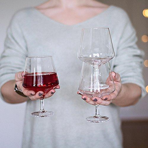 Magisso Pino Verre à vin, empilable, fabriqué à la Main, Verre, Transparent, 10 x 10 x 15 cm, de 2 unités