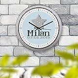 Kinderuhr Kinderzimmeruhr Wanduhr Geburtsuhr Uhr Milan