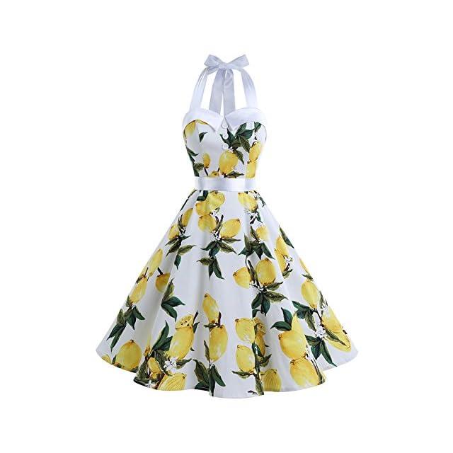 52aa1d9dd83 Dressystar Robe de Bal Polka Vintage pin-up à  Audrey Hepburn  50 s 60 s ...