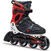 K2 Herren VO2 90 Boa M Fitness Inline Skates - Schwarz-Grau-Rot - 30C0018.1.1