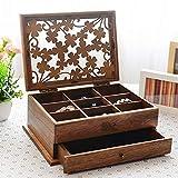 myun Hochwertige Holz Schmuck Aufbewahrungsbox, Schmuckschatulle, Schublade Schmuckschatulle, Europäischen Schmuck Ring Ohrringe Schmuck Aufbewahrungsbox,5