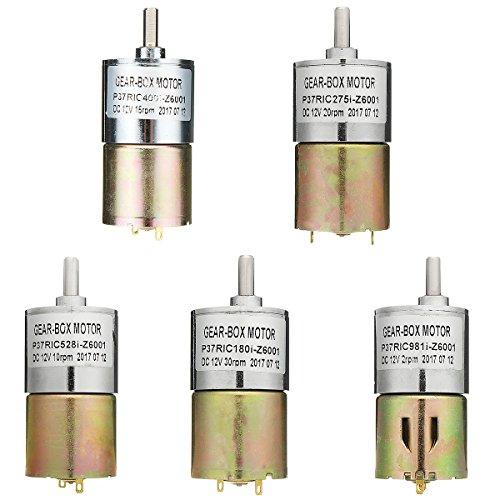 LaDicha C.C. 12V 2Rpm/10/15Rpm/20Rpm/30Rpm Velocidad De Reducción De Engranajes Alto Par Motor...