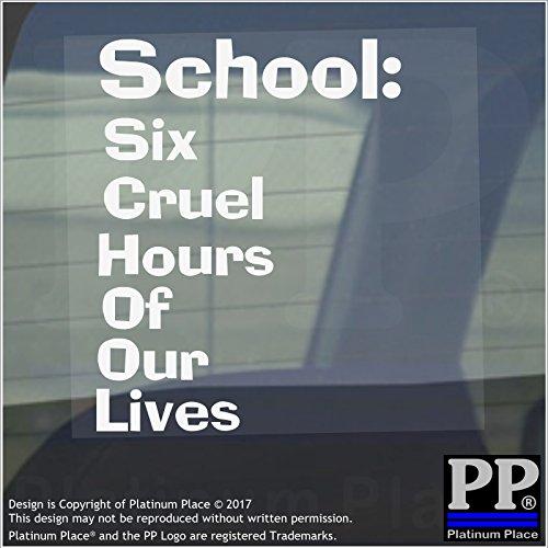 1x Schule, sechs Unbarmherziger hours-window, Auto, Van, Aufkleber, Zeichen, Primary, Kind, Baby, Funny