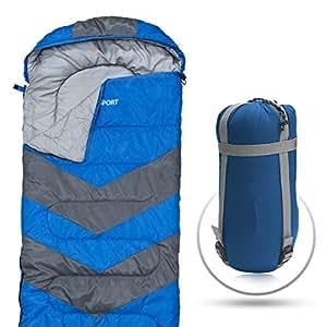 Extrem leicht, tragbar, wasserdicht, bequem, mit Kompressions-Beutel - Ideal für alle 4 Jahreszeiten – Sommer, Winter, Reisen, Camping, Wandern und Outdoor (SINGLE – für eine Person)