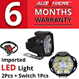 #3: AllExtreme EX6FS2P 6 LED Fog Light Waterproof Spot Beam Pod Driving Work Light With Switch for Motorcycle and Cars (10W, White, 2 PCS)