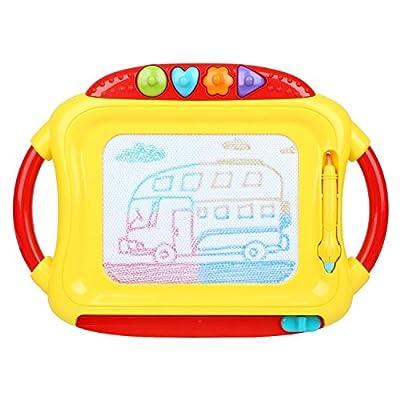 Peradix Tableau Magnétique Jouets Educatifs avec Stylo pour Les Enfants à Partir de 3 Ans