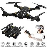 Hotbird Drohne mit Kamera, WiFi FPV Quadcopter mit 3D VR Live Video Kamera Faltbare Drohnen Kinder 2MP Weitwinkel Kamera Headless Höhe Halten Modus Mobile APP Control