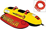MESLE Skibob Torpedo 2 Package, 2-Sitzer, Rot-Gelb, mit Schleppleine