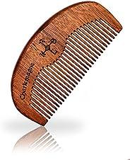 Charlemagne Premium Baardkam 100% Echt Hout! - Antistatische Houten Kam - Verzorgt Haar en Baard - Kapperskwal