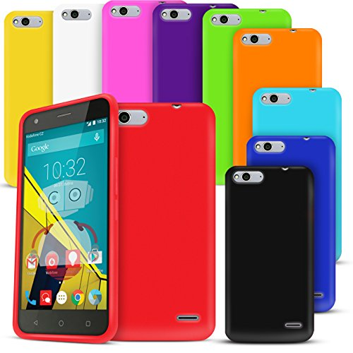 Cotechs® - Pack of 10 Gel Case Skin TPU Cover For Vodafone Smart Ultra 6 Includes Black, White, Red, Pink, Purple, Orange, Green, Yellow, Blue and Turquoise