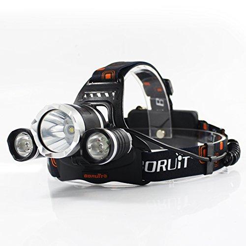 Boruit® LED Stirnlampe mit Grün UV-Licht , Grüne Coyote Hog Hunting - hellgrün Angeln Kopf Lampe-wiederaufladbar, UV-Beleuchtung & einstellbare perfekte Scheinwerfer für Camping, laufen, Radfahren, Höhlenforschung