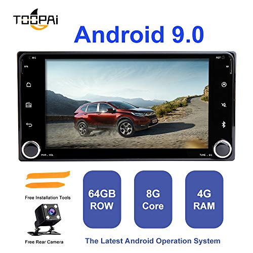 Android Car Stereo, ZLTOOPAI per Toyota Land Cruiser 100 200 Prado 120 150 Rush Corolla Hiace Yaris Hilux Android 9.0 Octa Core 4G RAM 32G ROM HD Multi-Touch Car In Dash GPS Radio