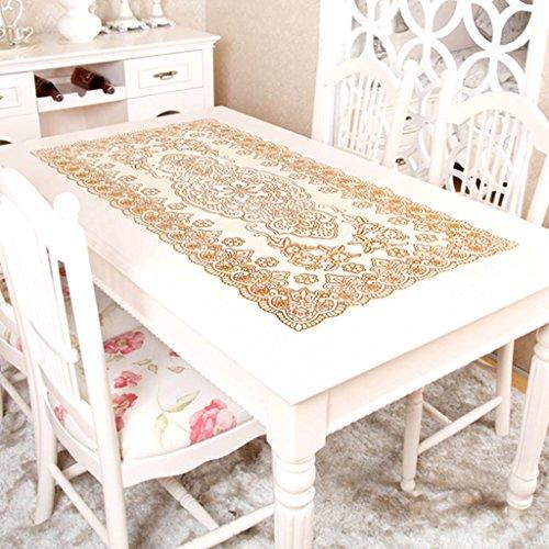 JCRNJSB® Nappe, PVC Imperméable Table basse transparente Table en cristal Table à manger Différents styles 120 x 60cm Lavable et facile à entretenir