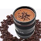 Camera lens shaped tea coffee mug travel flask car cup