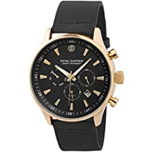 f5b1bbb3fe2b Dane Dapper Reloj negro con decoración dorada Troika