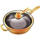 Wokpfanne CHENGYI Antihaft-Vakuum-Wok-Küche, die Bratpfannen-Suppe-Topf weniger Dampf-Induktions-Kocher-Gas Universal kocht